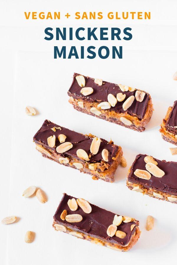 Snickers Vegan Maison - Sans Gluten