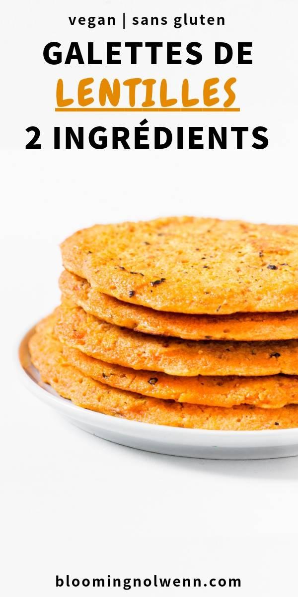 Galettes de Lentilles Corail - sain, sans gluten