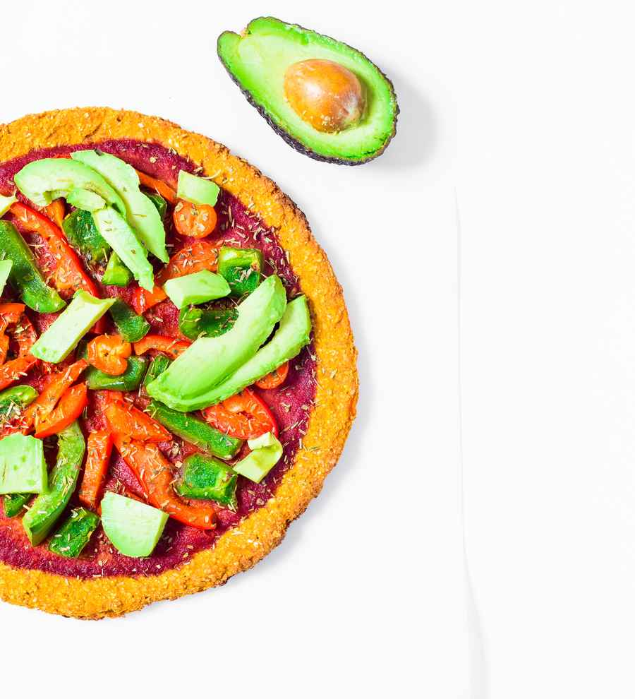 Vegan Sweet Potato Crust Pizza