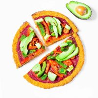 Vegan Sweet Potato Crust Pizza | Gluten-Free