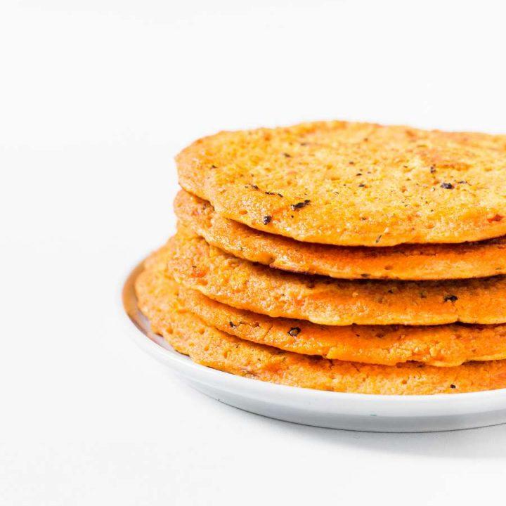 Vegan Red Lentil Flatbread | 2 Ingredients