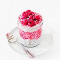 Raspberry Chia Pudding | Vegan