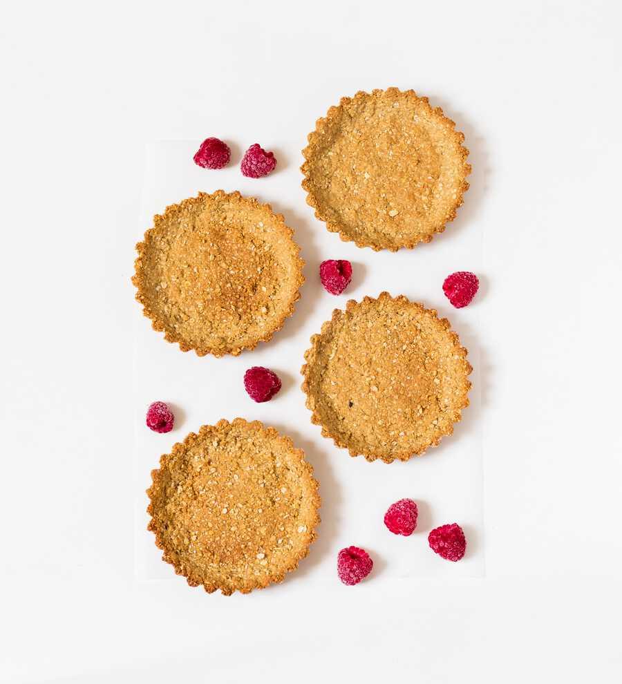 vegan raspberry tart