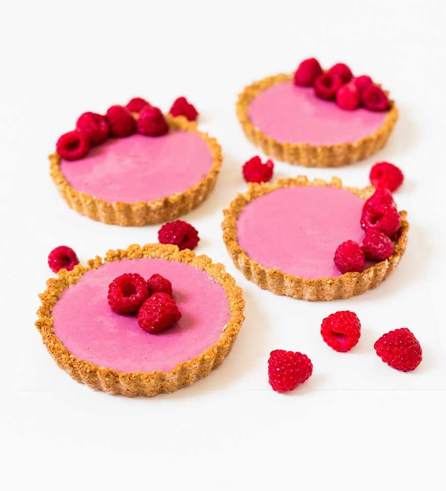 cheesecake aux framboises vegan