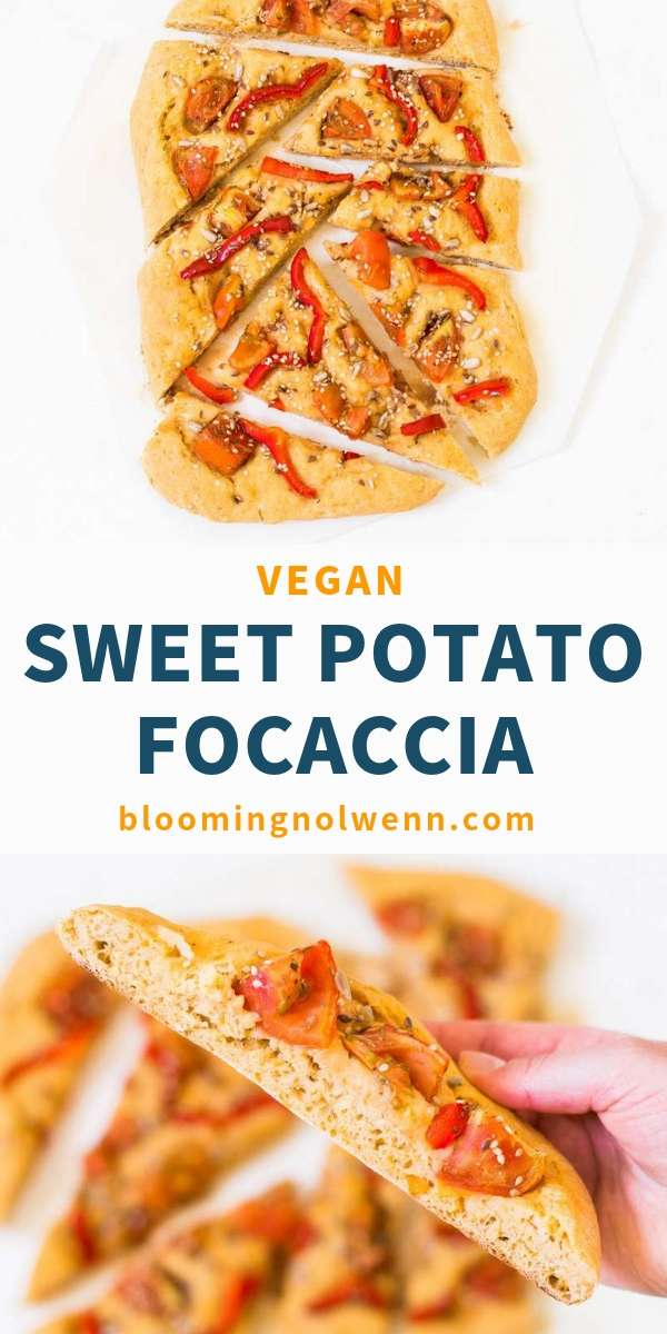 This Vegan Sweet Potato Focaccia is easy to make and delicious! It's a healthy focaccia barese bread that you can make for a party, a picnic or a simple lunch at home!