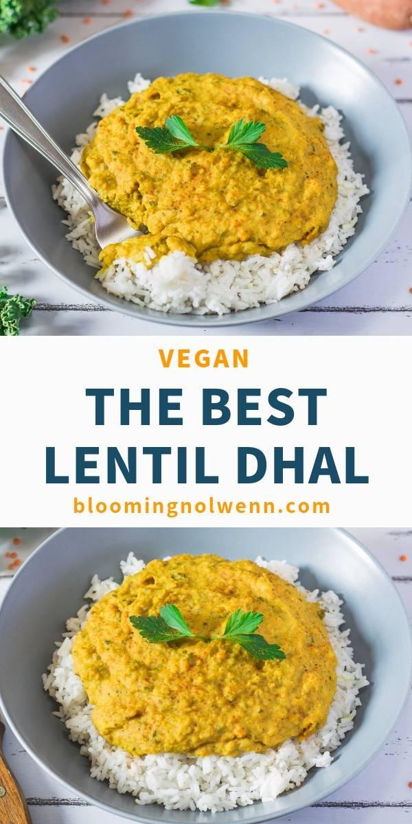 vegan red lentil dhal