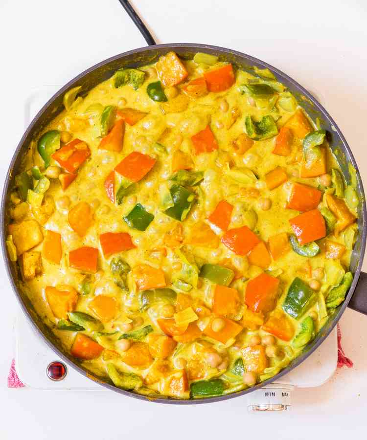 recette facile courge pois chiches