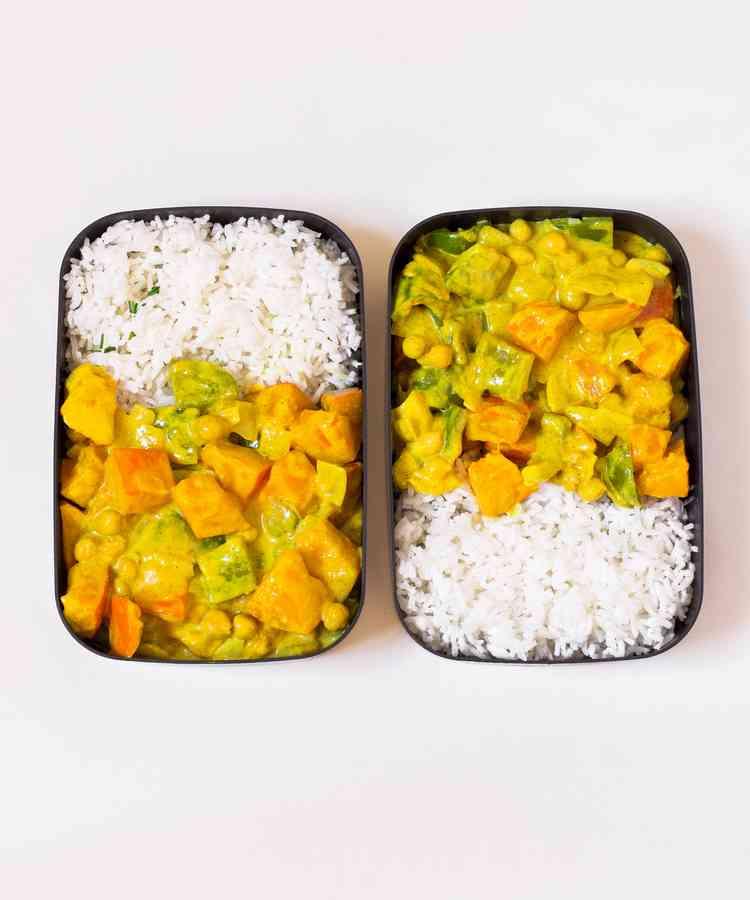 vegan meal prep curry