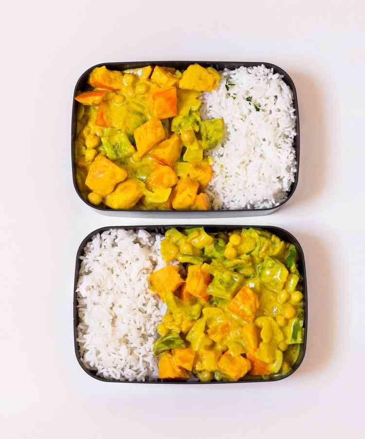 meal prep for work vegan