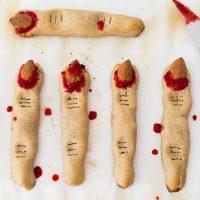 Vegan Witch Finger Cookies | Gluten-Free