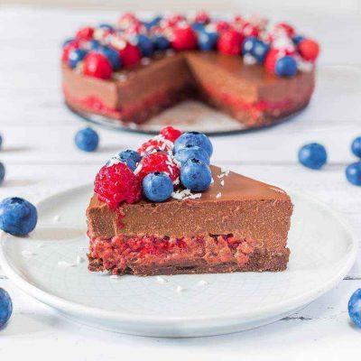 No-Bake Raspberry Chocolate Tart